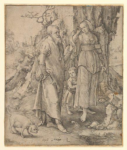 Abraham Sending Away Hagar (1516). Accession number: 1986.1180.196.