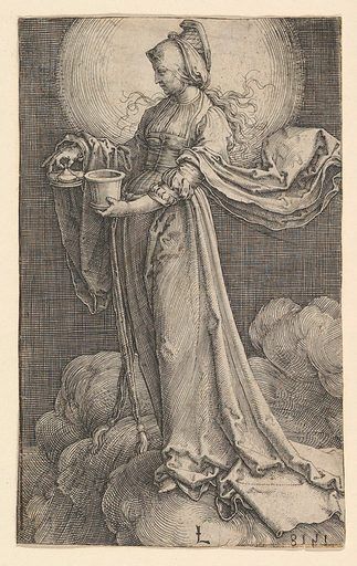 St. Mary Magdalene on the Clouds (1518). Accession number: 32.77.2.