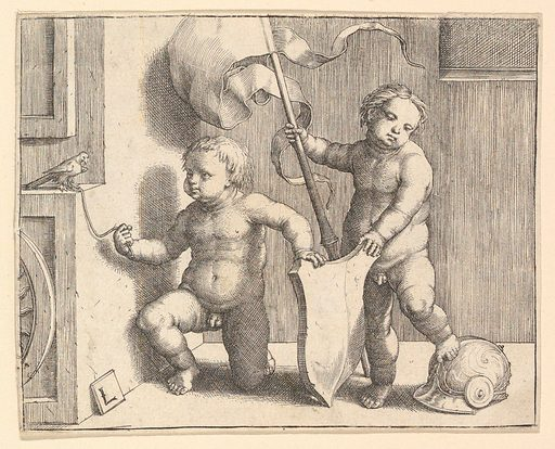 Two Nude Children Supporting a Blank Shield (ca. 1510). Accession number: 33.56.3.