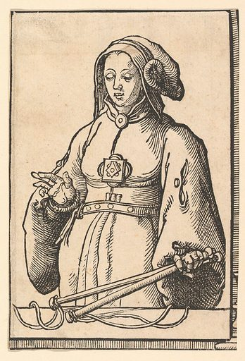 Agrippine Sibyl, from the series of Sibyls (ca. 1530). Accession number: 37.38.10.