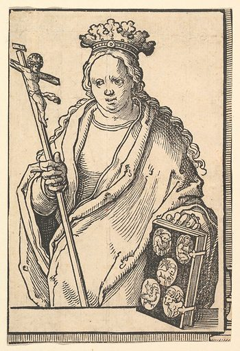 Ecclesia Christi (Faith), from the series of Sibyls (ca. 1530). Accession number: 37.38.14.