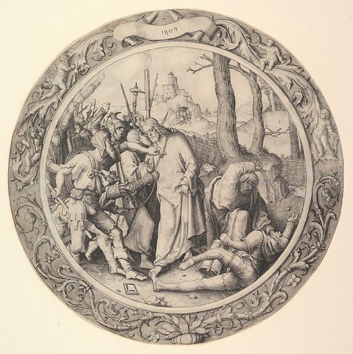 The Betrayal of Christ, (Christ Taken Captive), from the Circular Passion (1509). Accession number: 40.41.2.