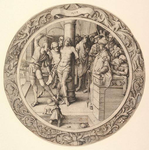 The Flagellation, from the Circular Passion (1509). Accession number: 40.41.5.