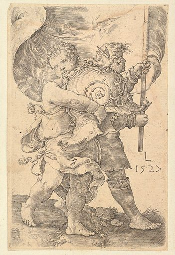 Two Boys with a Helmet and Standard (1527). Accession number: 47.100.1278.
