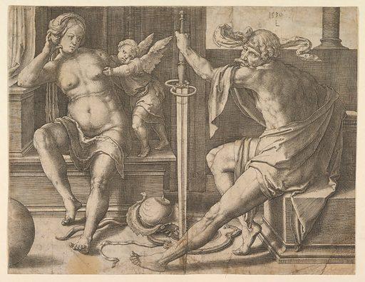 Mars, Venus and Cupid (1530). Accession number: 57.658.22.