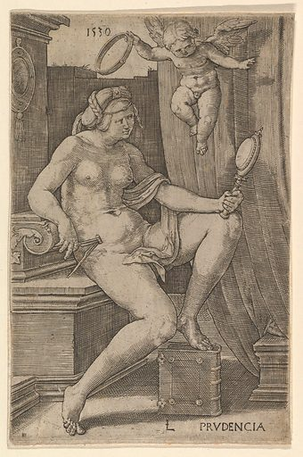 Prudence, from the series The Seven Virtues (1530). Accession number: 57.658.7.