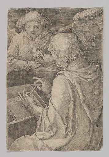 St. Matthew, from the series The Four Evangelists (1518). Accession number: 62.635.106.