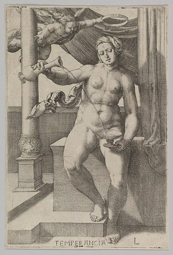Temperance, from the series The Virtues (1530). Accession number: 62.635.113.
