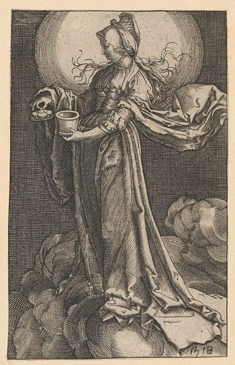 St. Mary Magdalene on the Clouds (copy) (1518 ?). Accession number: 62.635.730.