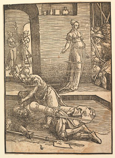 Jael Killing Sisera, without ornamental frame (copy) (early 16th century). Accession number: 31.43.1.