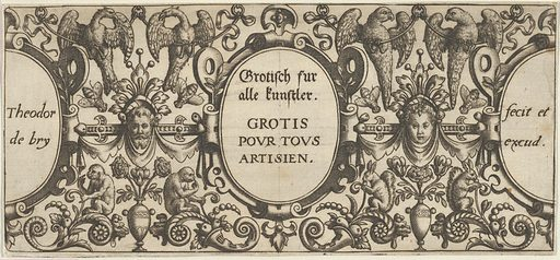 Title Page, from Grotisch fur alle Kunstler (1580–1600). Accession number: 51.501.5793(1).