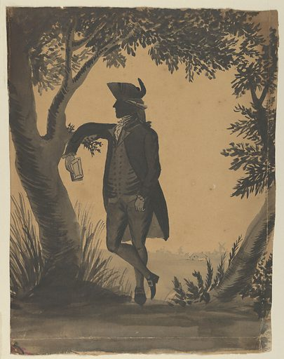 Young Man Leaning Against a Tree With a Book (ca. 1780–89). Accession number: 50.602.940.