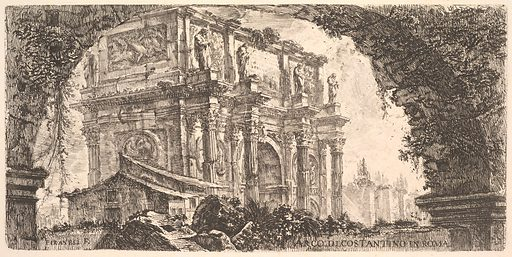 Plate 9: Arch of Constantine in Rome (Arco di Costantino in Roma) (ca. 1748). Accession number: 37.45.3(76).