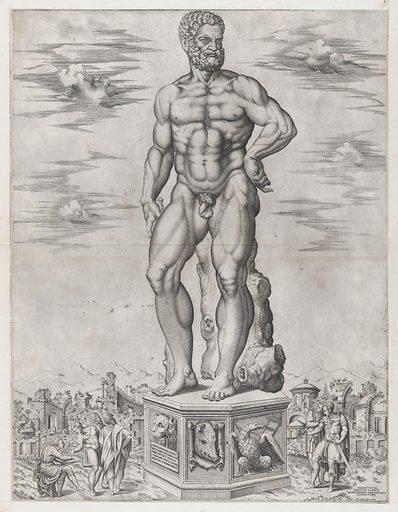 Speculum Romanae Magnificentiae: Hercules Colossus at Padua (L'Ercole di casa Benavides a Padova) (1553). Accession number: 41.72(2.61).