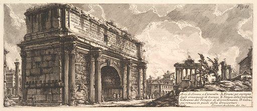The Arch of Septimius Severus (Arco di Severo, e Caracalla) (ca. 1756). Accession number: 58.580.13.