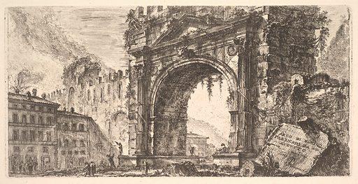 Plate 17: The Arch of Rimini built by Augustus (Arco di Rimino fabbricato da Augusto) (ca. 1748). Accession number: 37.45.3(86).