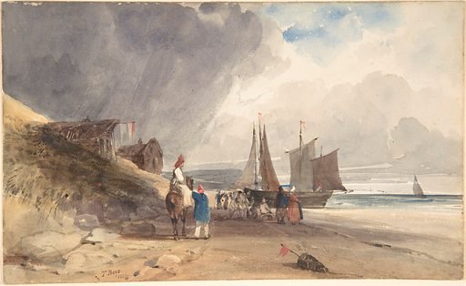 Figures on a Beach, Northern France (1830). Accession number: 2004.266.