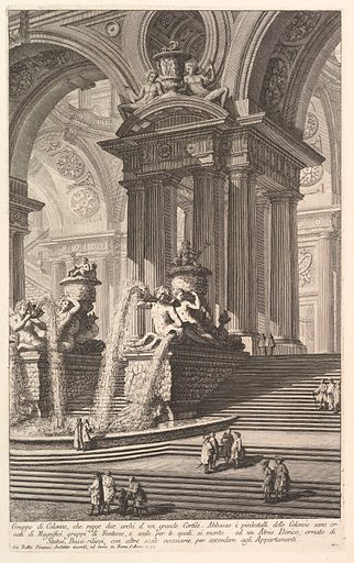 Group of columns which support two arches of a great courtyard . . . (Gruppo di Colonne, che regge due archi d