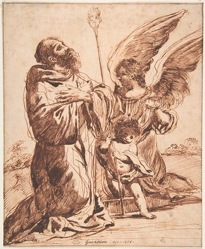 Saint with Angel and Putto (n.d.). Accession number: 80.3.279.