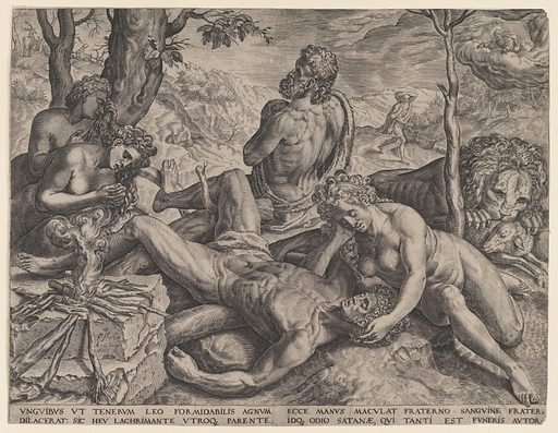 Adam and Eve Lamenting the Death of Abel (1564). Accession number: 63.517.16.