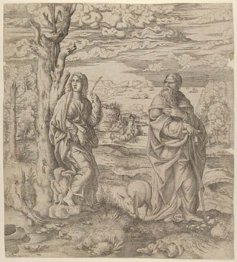 Saint John and Saint Anthony (ca. 1542–45). Accession number: 59.642.80.