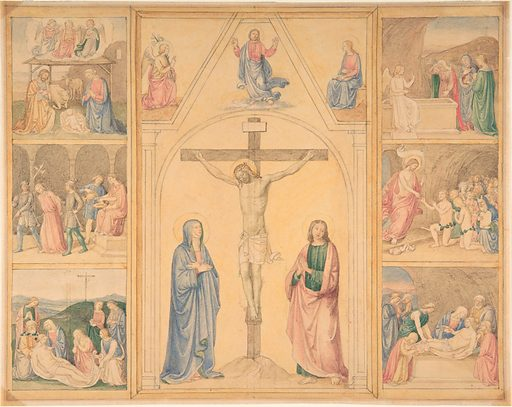 Christ on the Cross with Six Scenes from the Life of Christ (ca. 1850). Accession number: 2004.380.