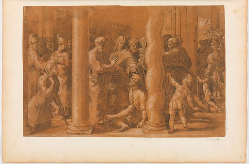 St. Peter and St. John Healing the Cripples at the Gate of the Temple (ca. 1524–27). Accession number: 27.78.2(145).