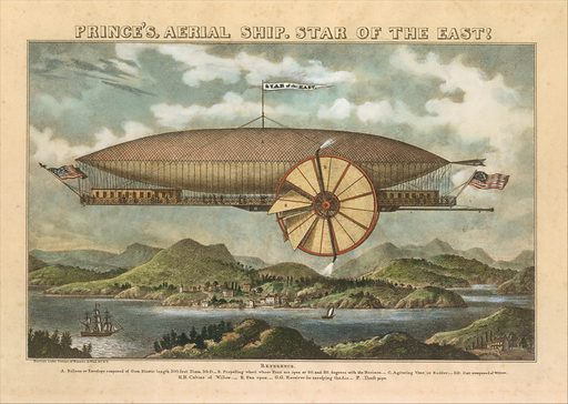 Prince's Aerial Ship. Star of the East! (19th century). Accession number: 62.696.16.