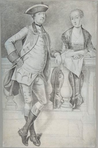 Study for a Portrait of an Officer and His Wife (ca. 1756–58). Accession number: 2004.501.