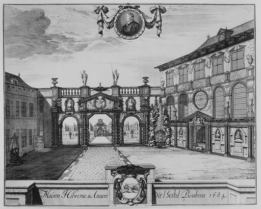View of the Rubenshuis in Antwerp (1675–1732). Accession number: 51.501.7502.