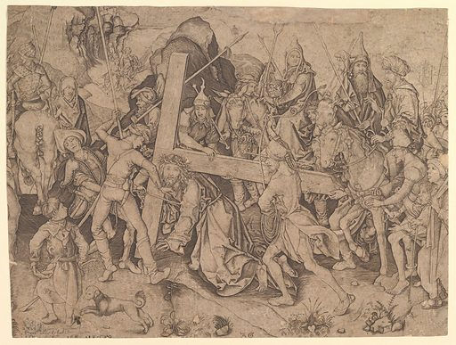 Christ Carrying the Cross (copy) (15th century). Accession number: 63.548.1.
