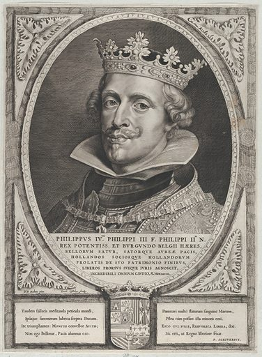 Portrait of Philip IV, King of Spain, from 'Counts and Countesses of Holland, Zeeland, and West-Frisia' (1650). Accession number: 51.501.7559.