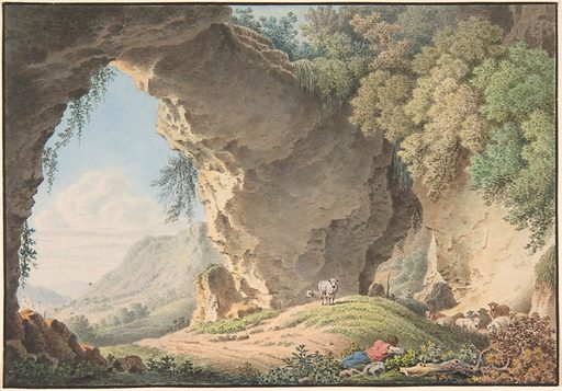 Rocky Landscape with Sleeping Shepherd. Date: 1817. Accession number: 2007121.