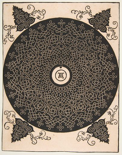 """""""The Fourth Knot"""". Interlaced Roundel with a Round Medallion in its Center (after 1528). Accession number: 1975.653.104."""