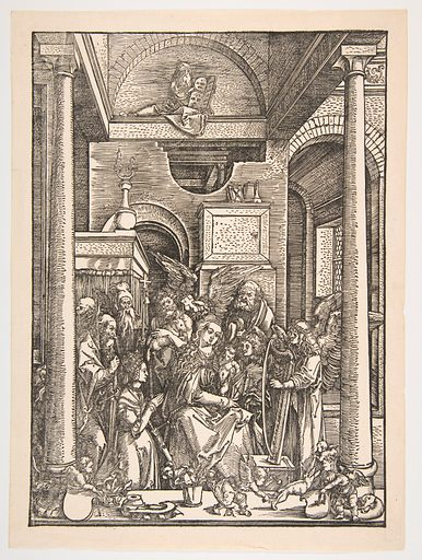 The Glorification of the Virgin, from The Life of The Virgin (ca 1502). Accession number: 1986.1180.83.