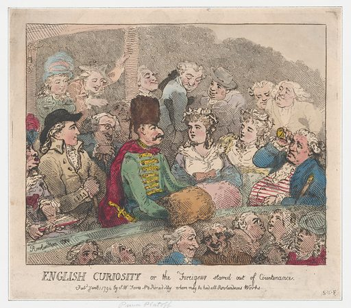 English Curiosity or The Foreigner Stared Out of Countenance (January 1, 1794). Accession number: 17.3888–340.