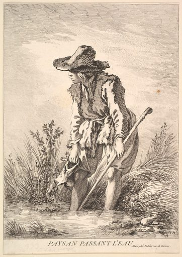 Peasant Crossing Water (1786). Accession number: 53.600.1093.