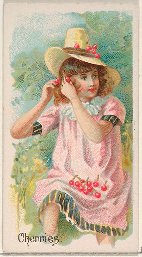 Cherries, from the Fruits series for Allen & Ginter Cigarettes Brands