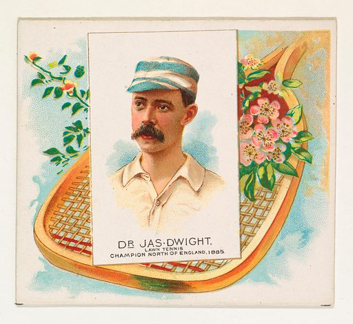 Dr James Dwight, Lawn Tennis Champion North of England of 1885, from World's Champions, Second Series (N43) for Allen & Ginter Cigarettes (1888). Accession number: 63.350.202.43.23.