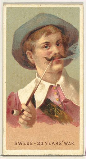 Swede in the 30 Years War, from World's Smokers series (N33) for Allen & Ginter Cigarettes (1888). Accession number: 63.350.202.33.25.