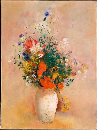 Vase of Flowers (Pink Background)