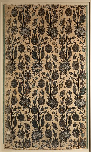 Velvet Panel with Flowering Plants (first half 17th century). Attributed to Iran. Accession number: 12.72.5.