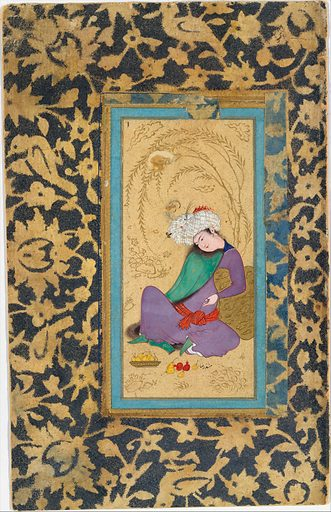 Man in a Fur-Lined Coat. Date: ca 1600. Attributed to Isfahan, Iran. Accession number: 5512139.