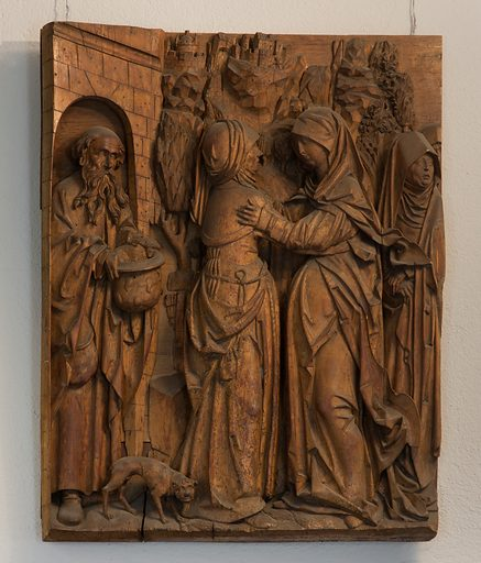 The Visitation (ca 1520). South German. Accession number: 09.78.
