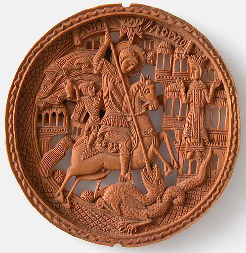 Medallion, St George Slaying The Dragon