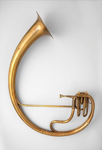 Bass saxtuba in E-flat. Date: 1855. French. Paris, France. Accession number: 8941109.