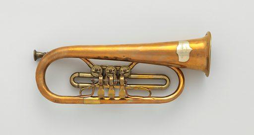 Flügelhorn (valve bugle) in B-flat. Date: 1849–55. German. Cassel, Germany. Accession number: 8942203.