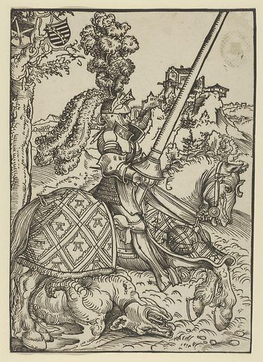 St George on Horseback with the Dead Dragon