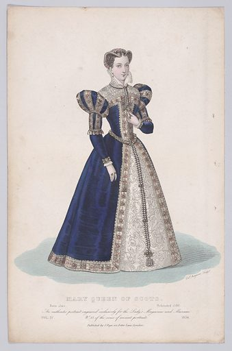 """Mary, Queen of Scots (from """"Court Magazine and Monthly Critic and Lady's Magazine,"""" volume IV). Date: 1834. Published in London, England. Accession number: 58549131."""