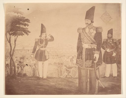 [A Persian revue in a painting that once belonged to Ardeshir Mirza, uncle of the king.]. Date: 1840s–60s. Accession number: 197768326.